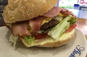Menú de hamburguesas para dos