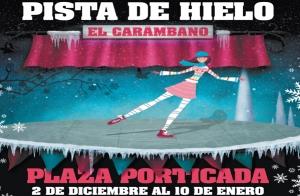 Entrada pista de hielo en Santander